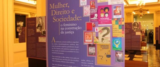 """Exposição """"Mulher, Direito e Sociedade: O feminino na construção da justiça"""""""